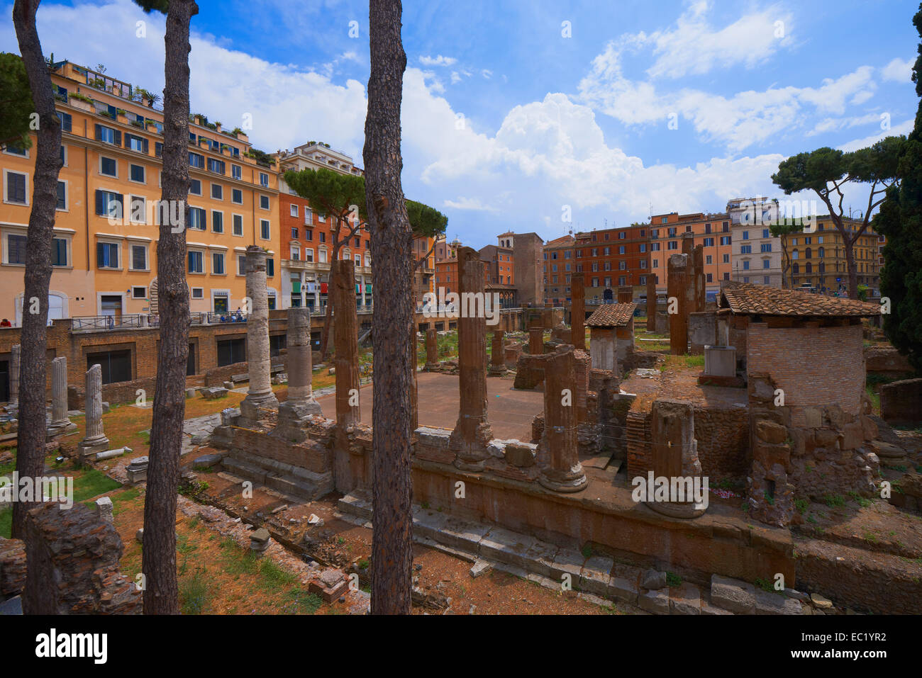 Area Sacra, Largo di Torre, Argentina square, Rome, Lazio, Italy, Europe. - Stock Image