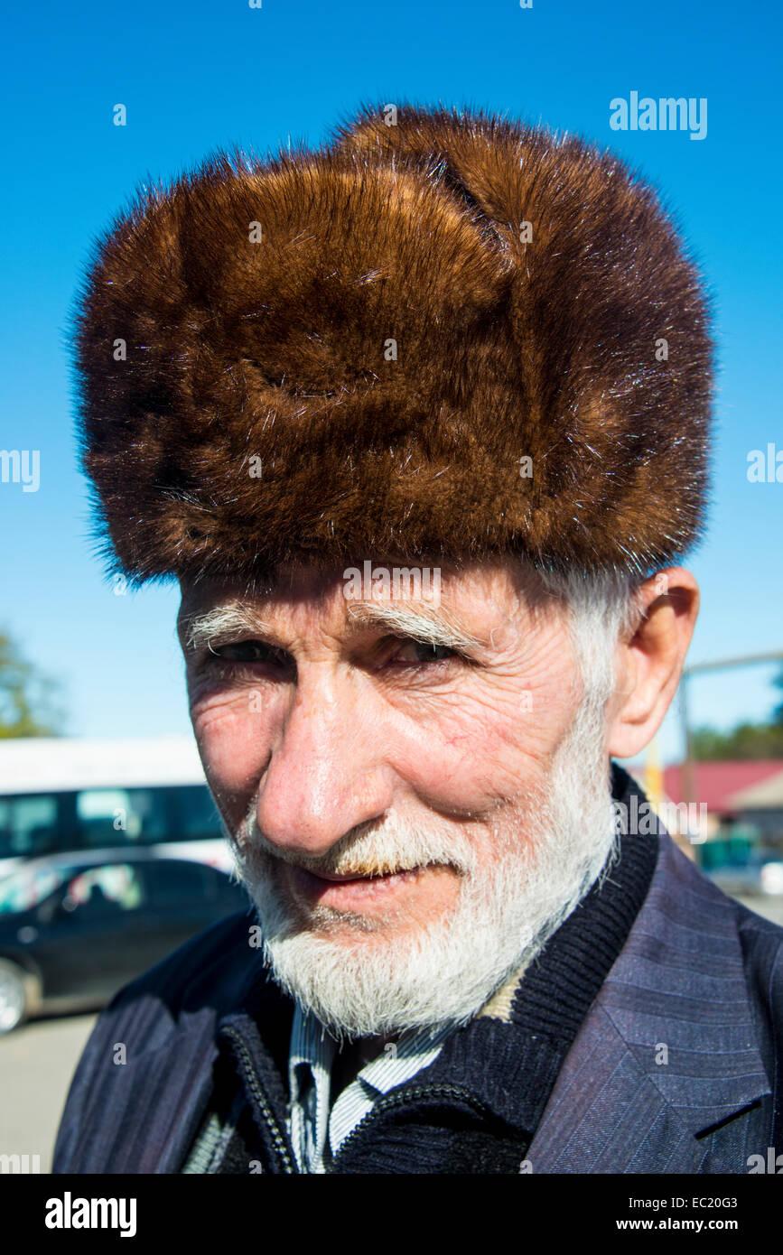 Portrait, Chechen man, Chechnya, Caucasus, Russia Stock Photo