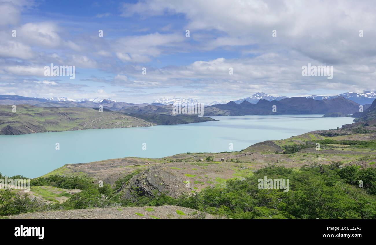 Lake Lago Nordenskjold, Torres del Paine National Park, Magallanes y la Antártica Chilena Region, Chile - Stock Image