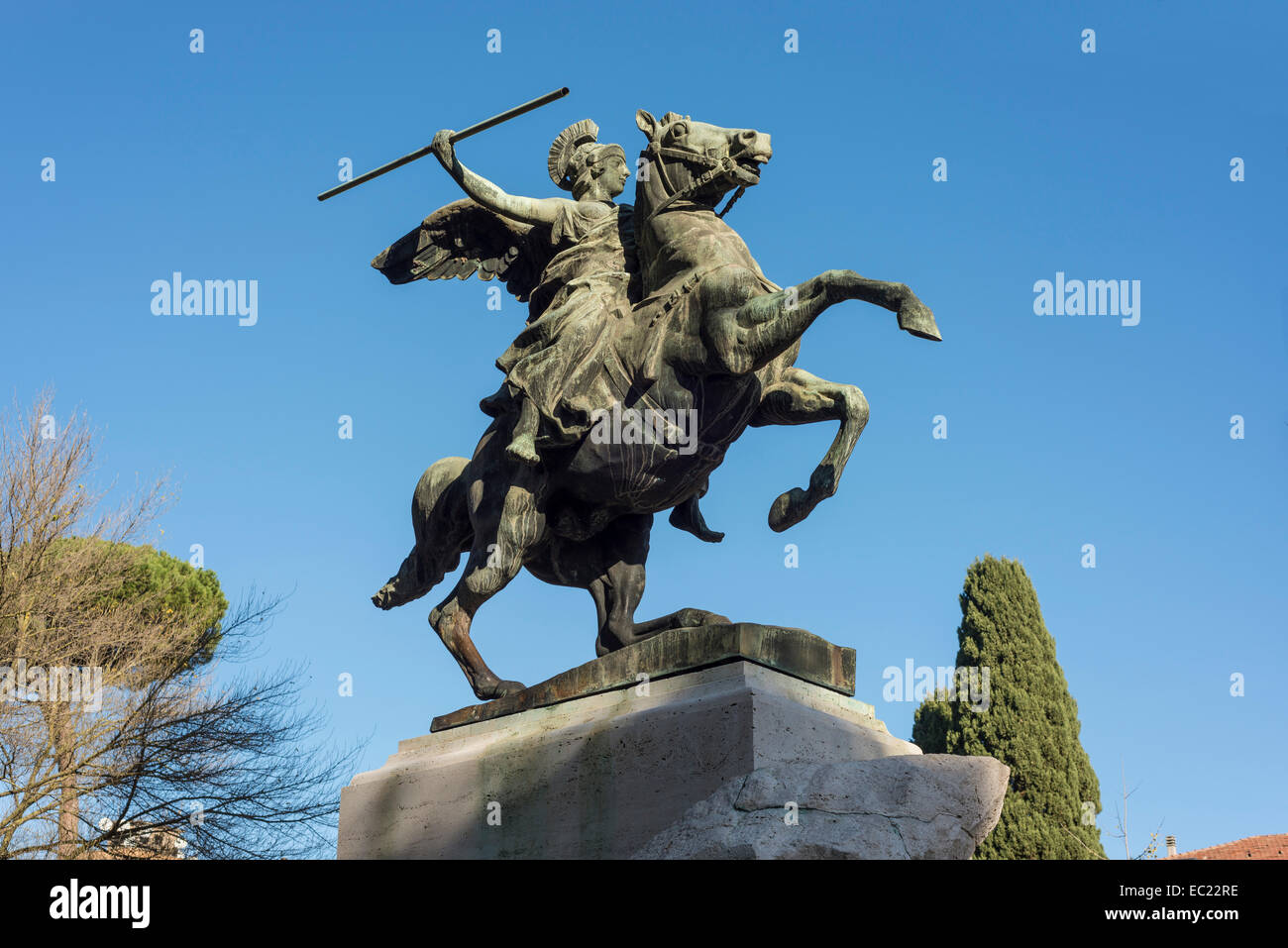 Monument the Fallen of the First World War, Nomentana, Italien XVII Trieste, Rome, Lazio, Italy - Stock Image