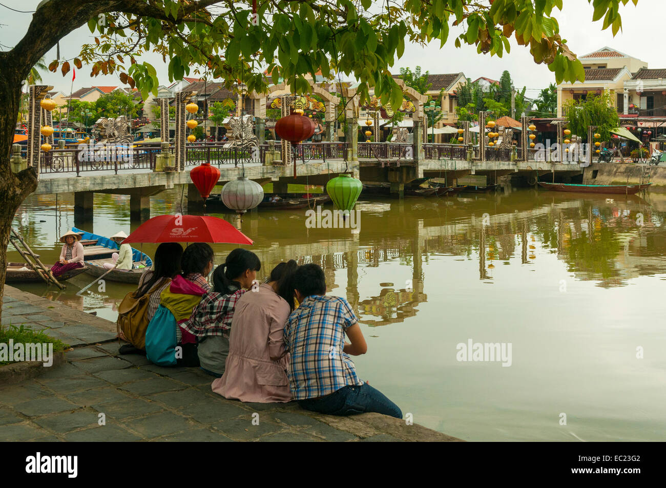 Riverside in Old Quarter, Hoi An, Vietnam - Stock Image