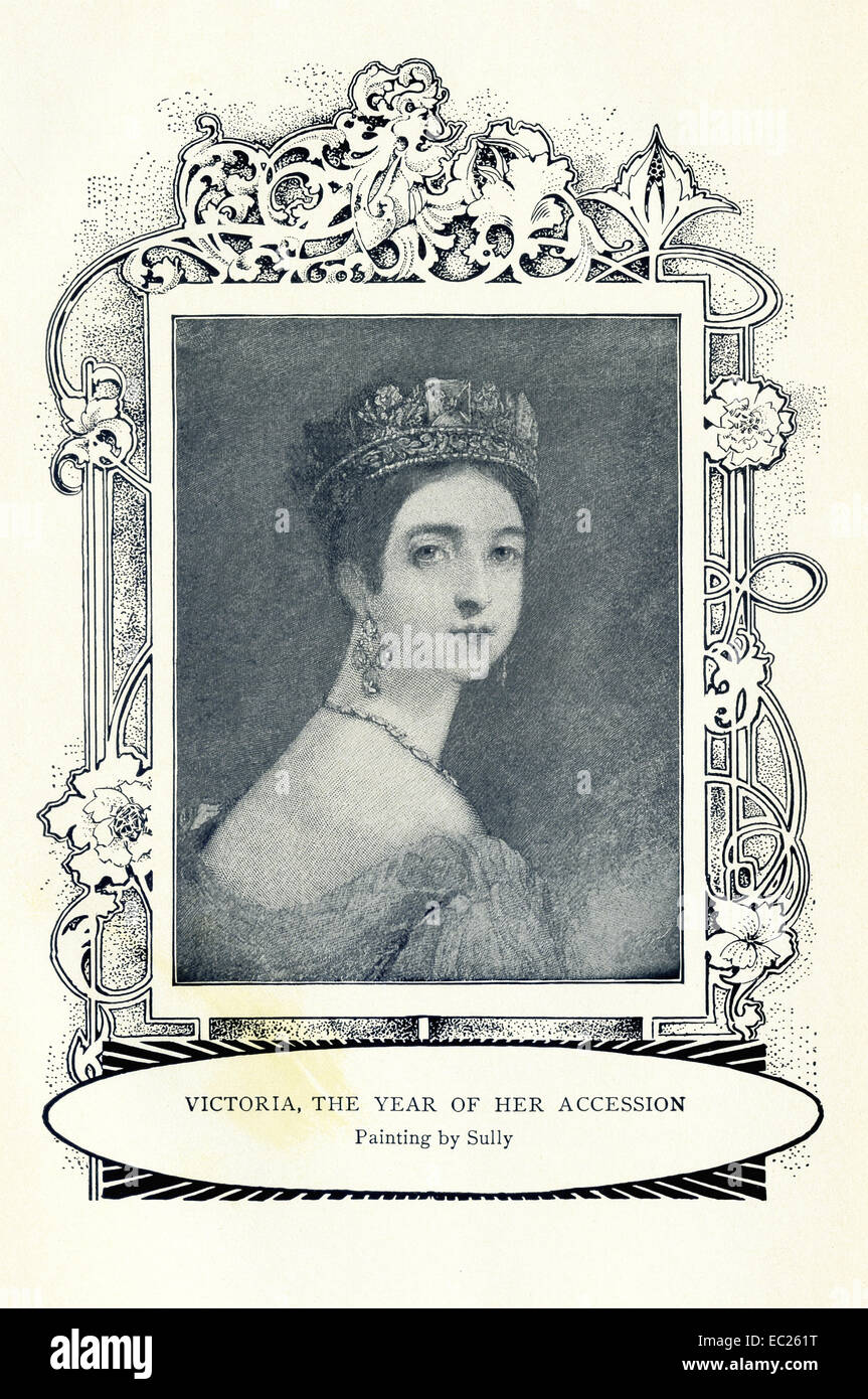 Queen Victoria (1819-1901) ascended the throne of England in 1837 and ruled until her death in 1901. This image, - Stock Image
