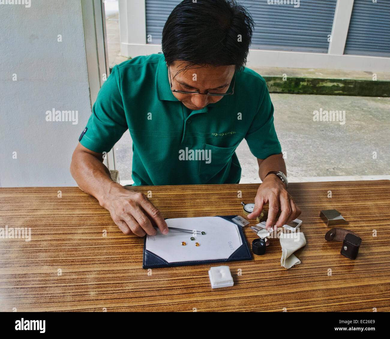 Jeweller in Chantaburi, Thailand - Stock Image