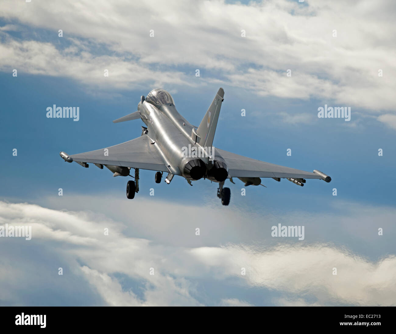 RAF 1 Squadron Eurofighter Typhoon FRG4 Take Off.  SCO 9295 - Stock Image