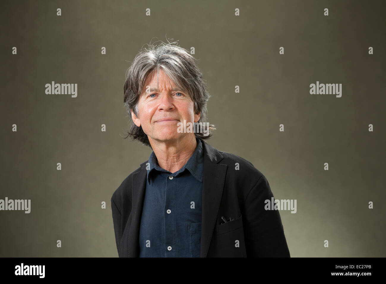 Anthony Browne, the British author and illustrator of children's books, at the Edinburgh International Book - Stock Image