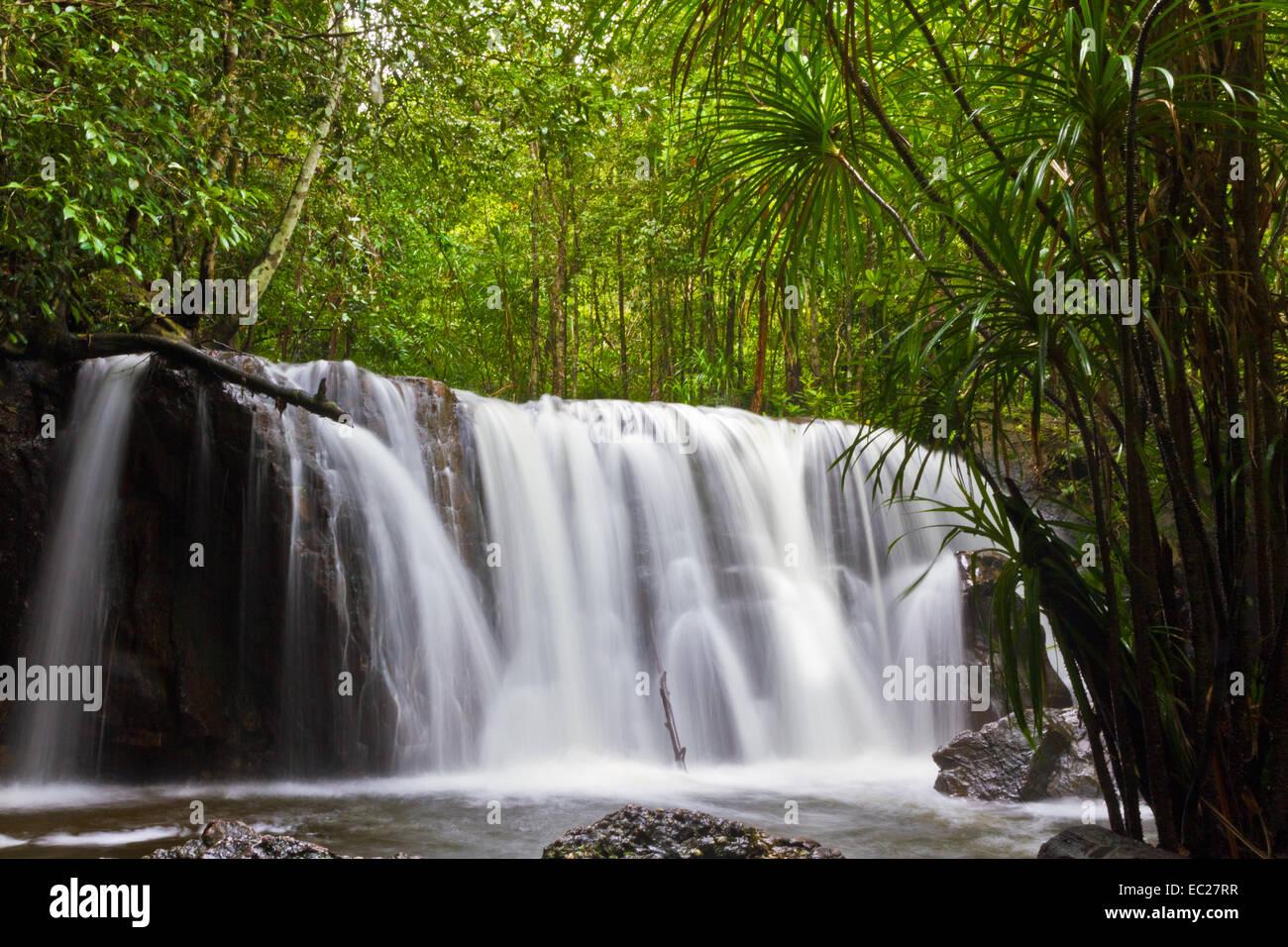 Suoi Tranh waterfall in Phu Quoc, Vietnam - Stock Image