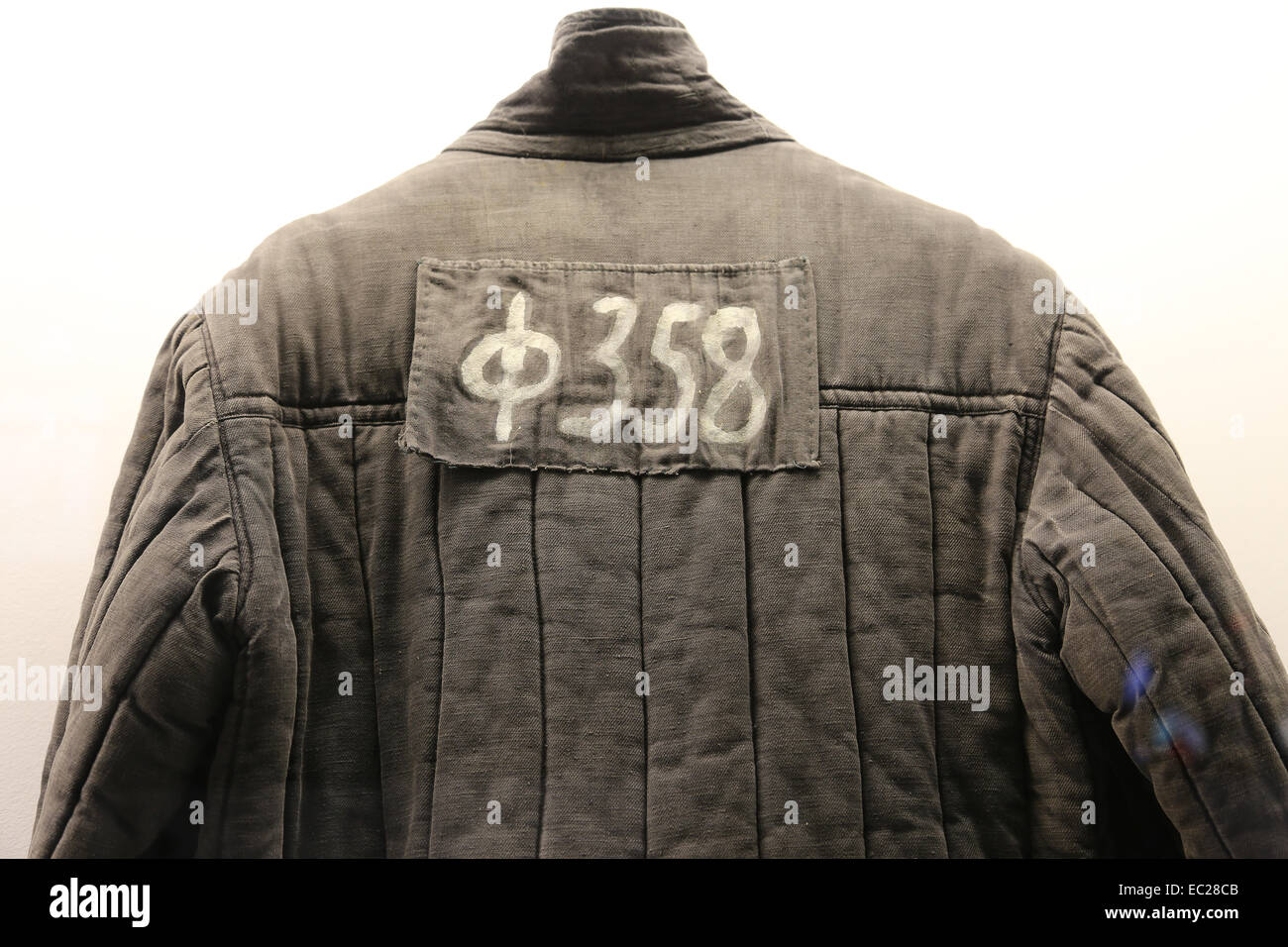 Gulag, Soviet forced labor camp. Prisoner's jacket, each deportee had an identification number assigned to them. - Stock Image