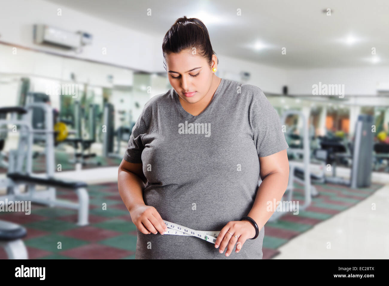 indian Obese Lady Weight Loss problem Stock Photo: 76268218