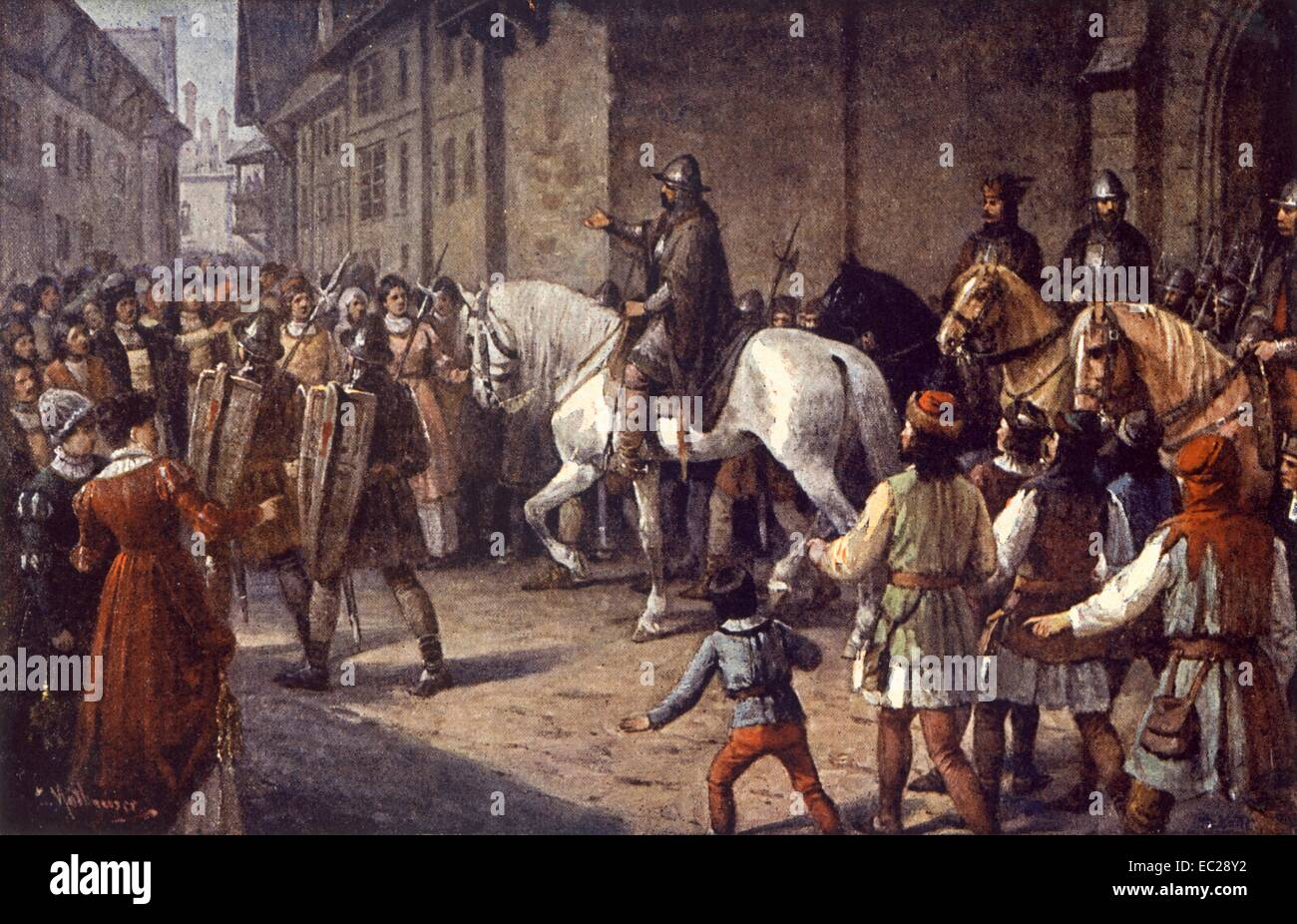 The Hussite leader Jan Zizka in Prague, 1420.