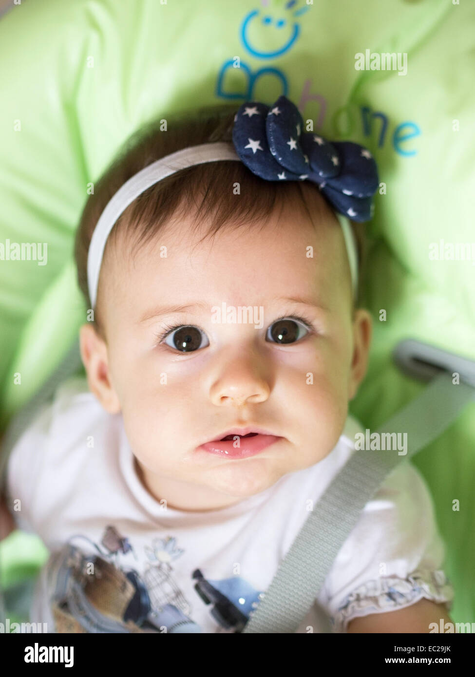 small baby girl portrait, shoot from above stock photo: 76268827 - alamy
