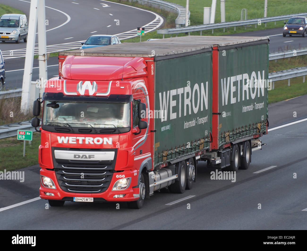 DAF Wetron Intermodal Transport - Stock Image