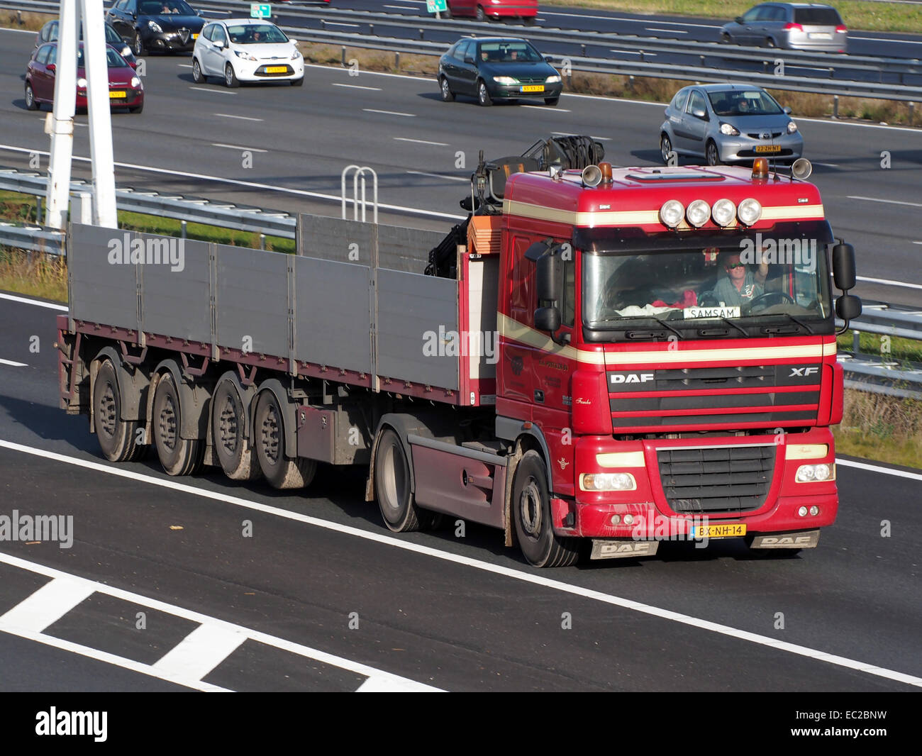DAF XF 105 410, MN Post & Zonen bv - Stock Image