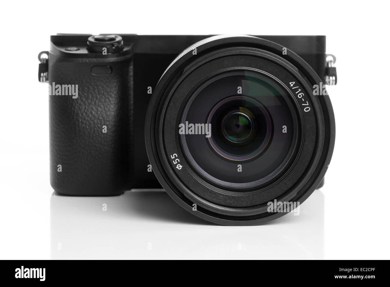 mirrorless digital camera - Stock Image
