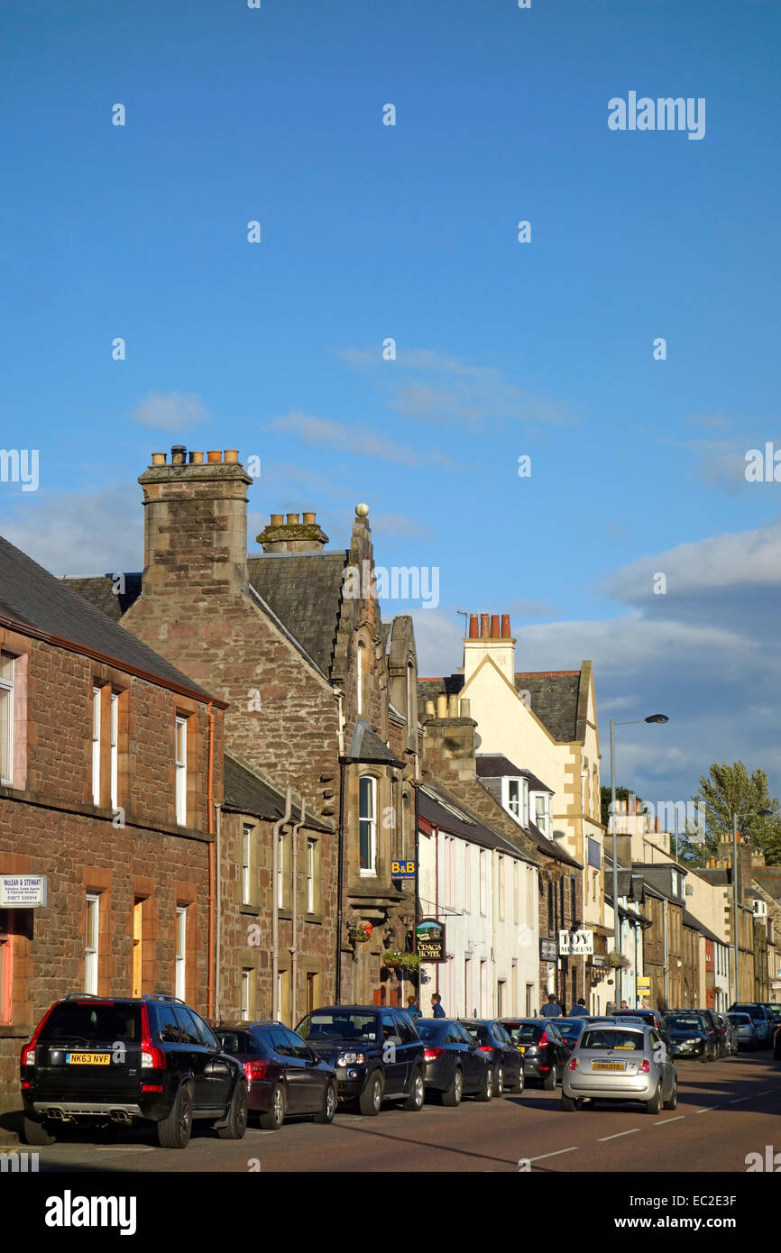 Main Street, Callander, Trossachs, Stirlingshire, Scotland, UK - Stock Image