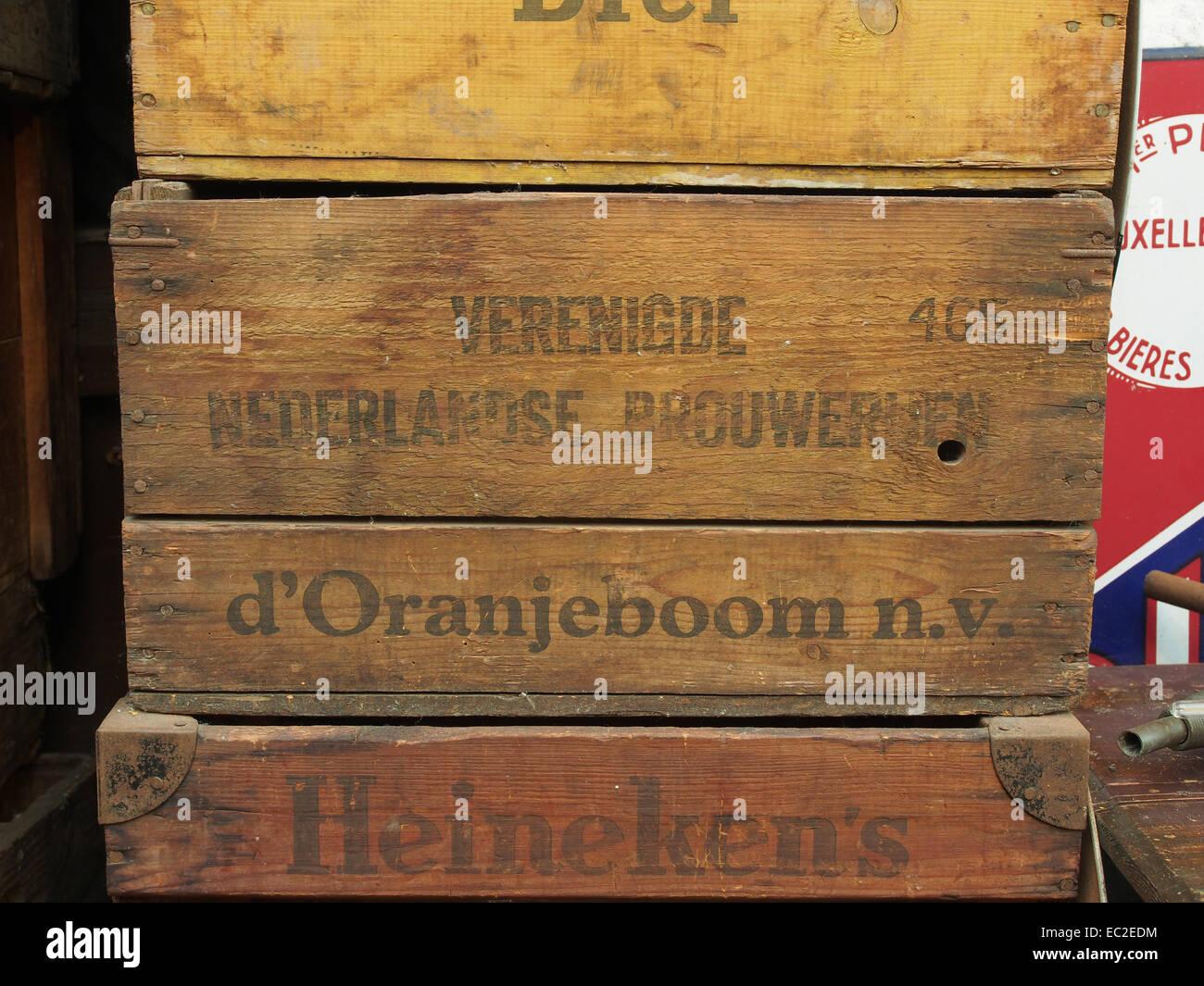 Verenigde Nederlandse Brouwerijen dOranjeboom NV bierkrat - Stock Image