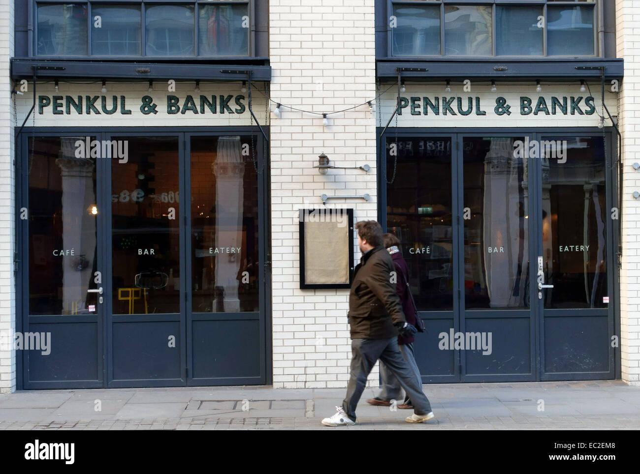 Penkul & Banks tapas style restaurant, Shoreditch, London - Stock Image