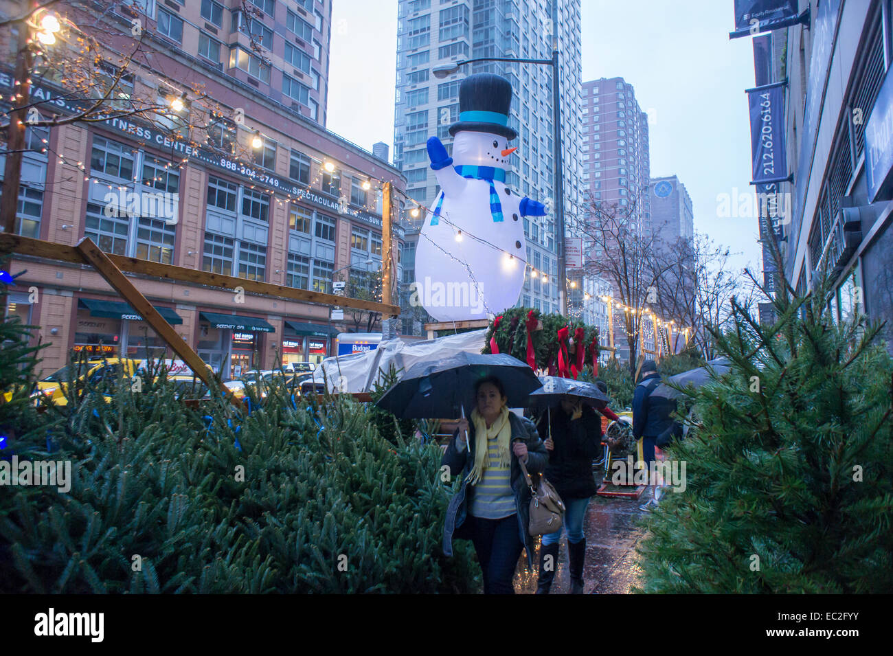 Christmas Trees And Decorations For Sale In The Chelsea Neighborhood