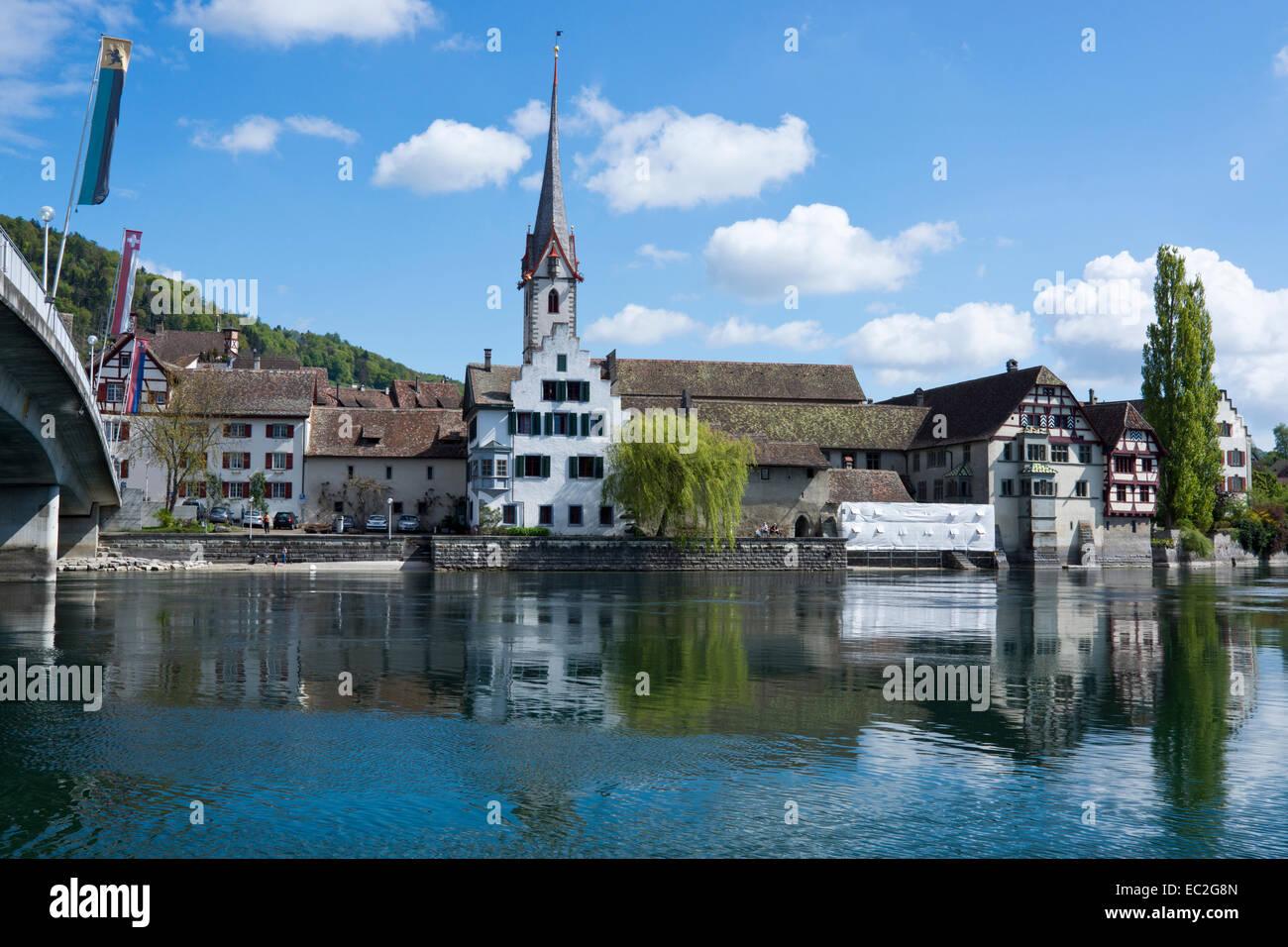 Stein am Rhein, High Rhine, Canton of Schaffhausen, Switzerland, Europe Stock Photo