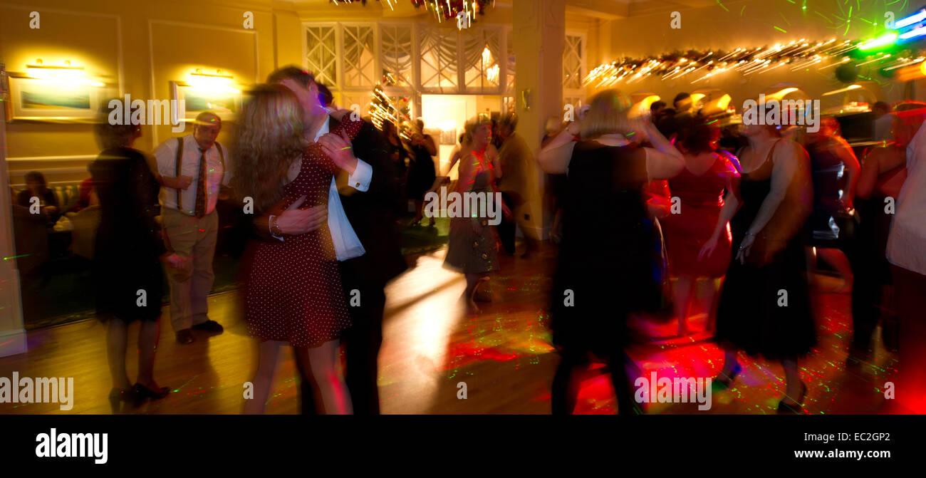 A Christmas party in full swing - Stock Image
