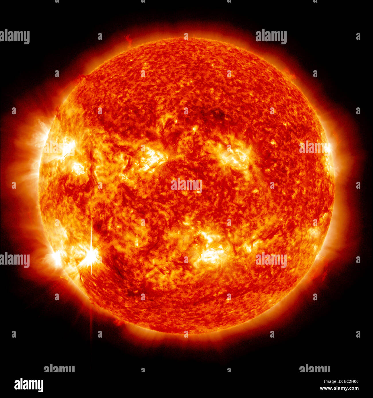 explosions on the sun - Stock Image