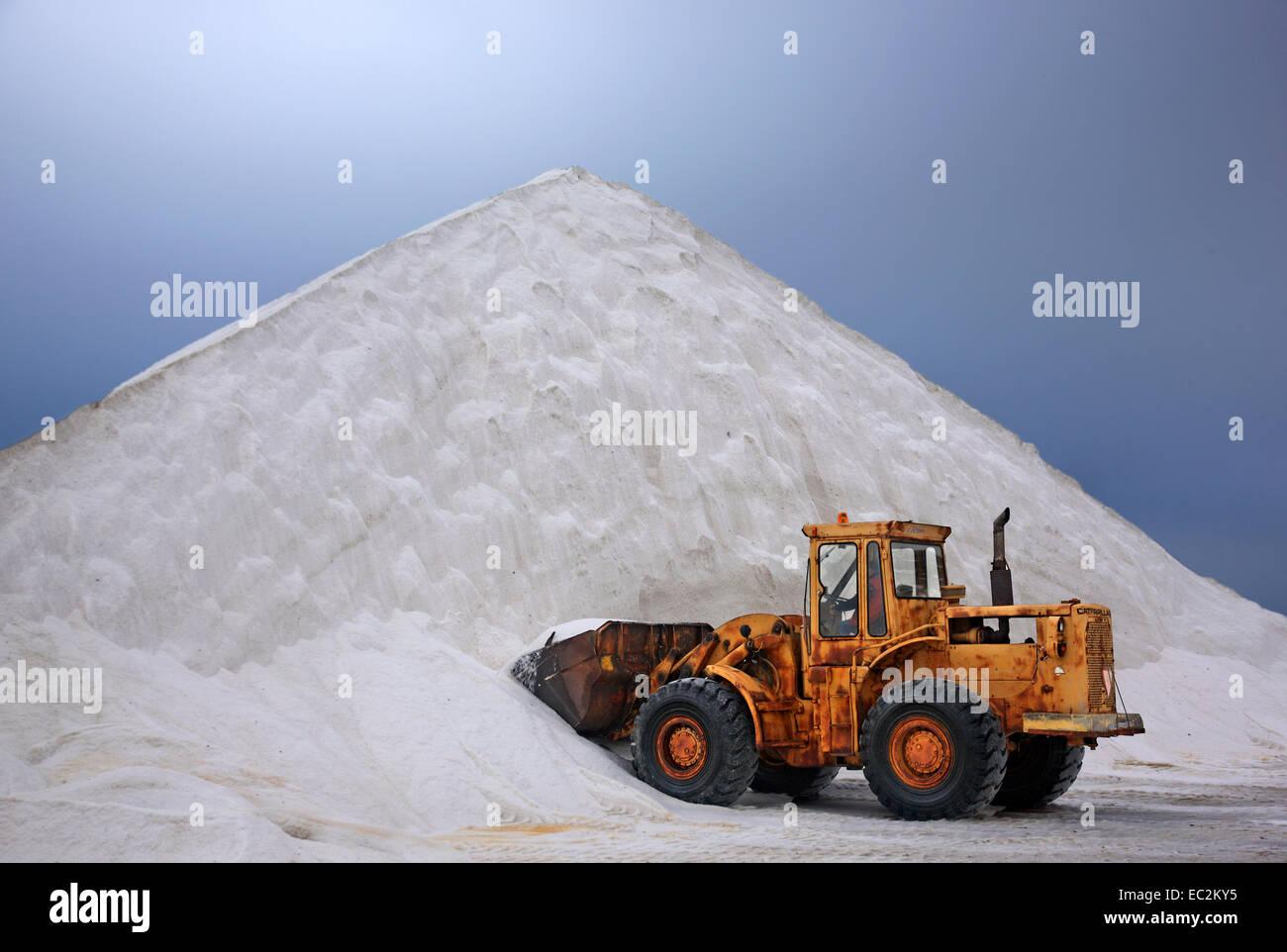 At Alyki ('salt works') Kitrous, Pieria, Macedonia, Greece. - Stock Image