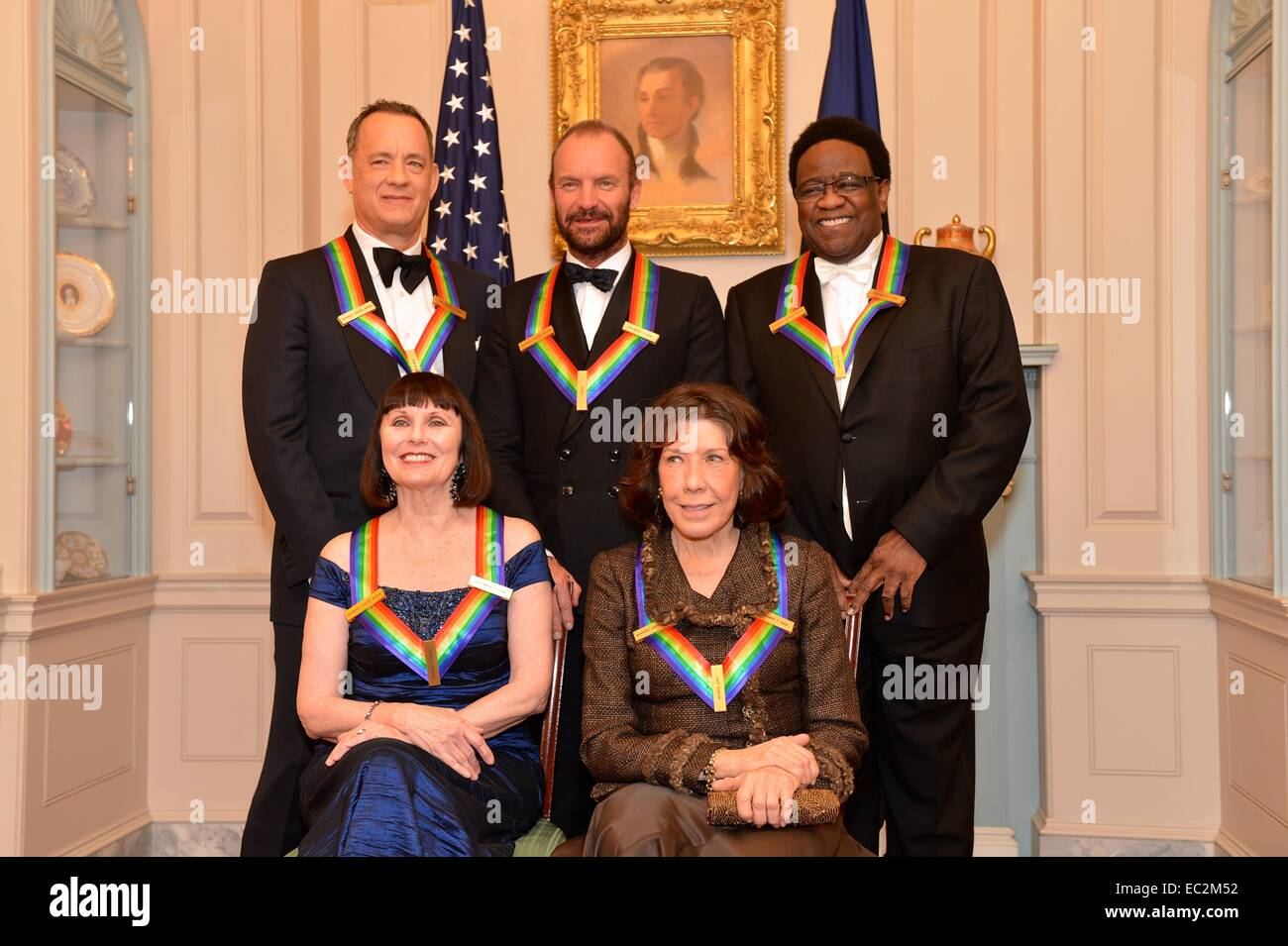 The 2014 Kennedy Center Honorees including singer Al Green, actor Tom Hanks, ballerina Patricia McBride, musician - Stock Image