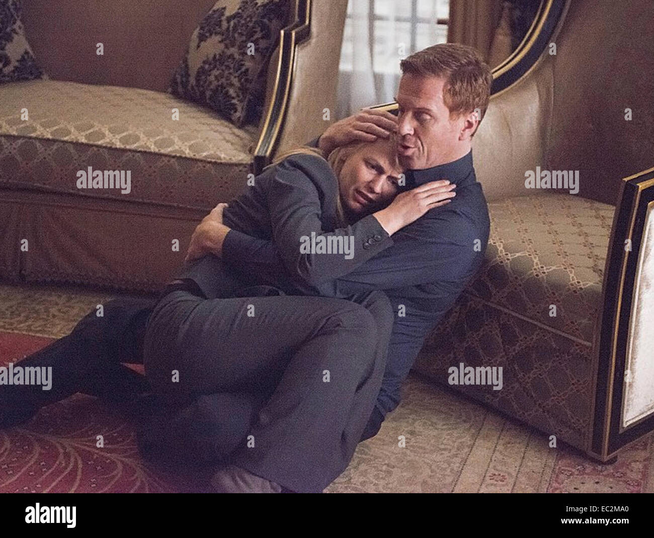 HOMELAND Fox 21 TV/Keshet Media Group TV series with Claire Daines and Damian Lewis - Stock Image