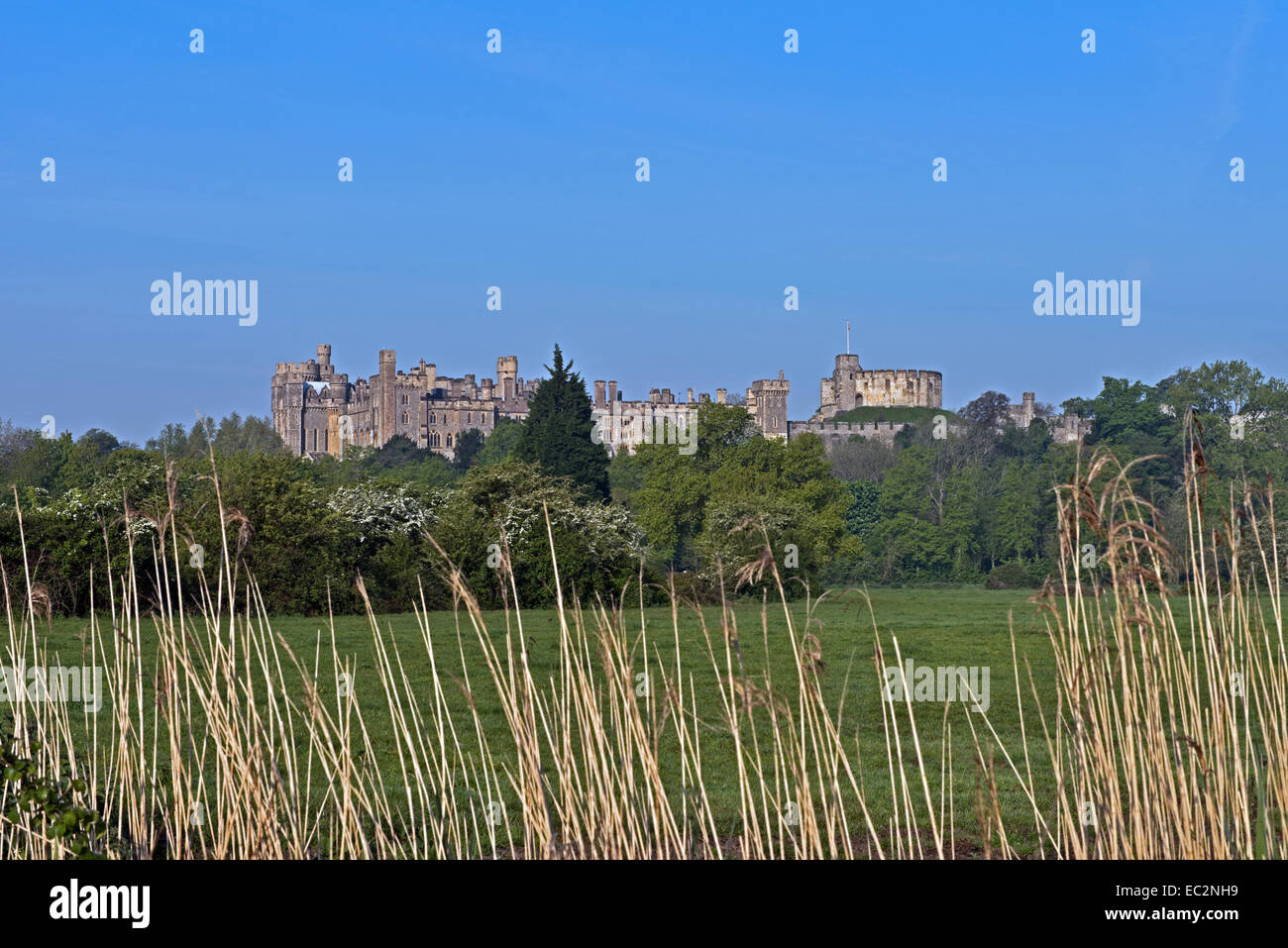 A Landscape View of Arundel Castle, West Sussex, England, Uk. - Stock Image