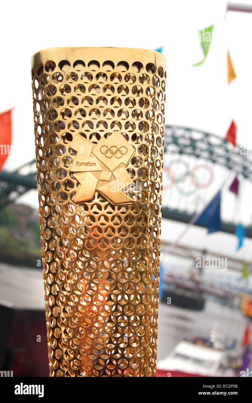 Olympic torch - London 2012 - Stock Image