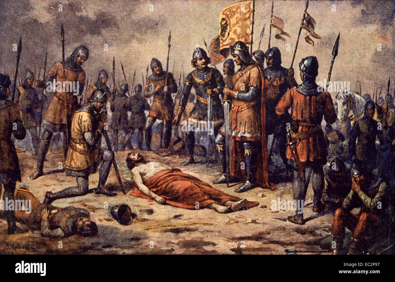 The Battle of Crecy August 26th, 1346 the dead lies blind King Jean of  Luxembourg, King of Bohemia