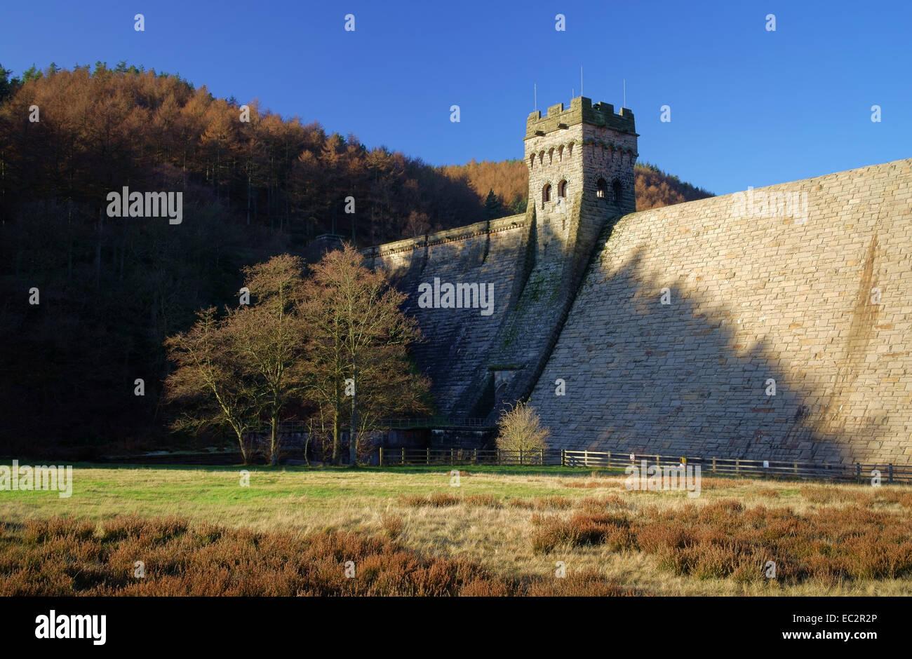 UK,Derbyshire,Peak District,Derwent Dam - Stock Image