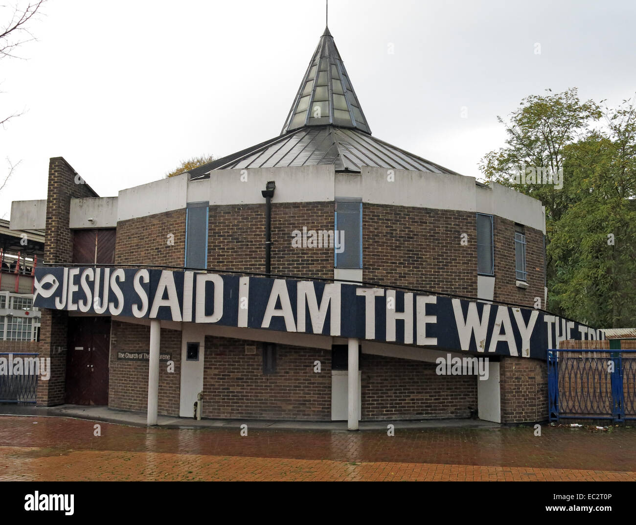 Clapham Junction Community Church of the Nazarene, Jesus Said I am the way the truth and the life - Stock Image