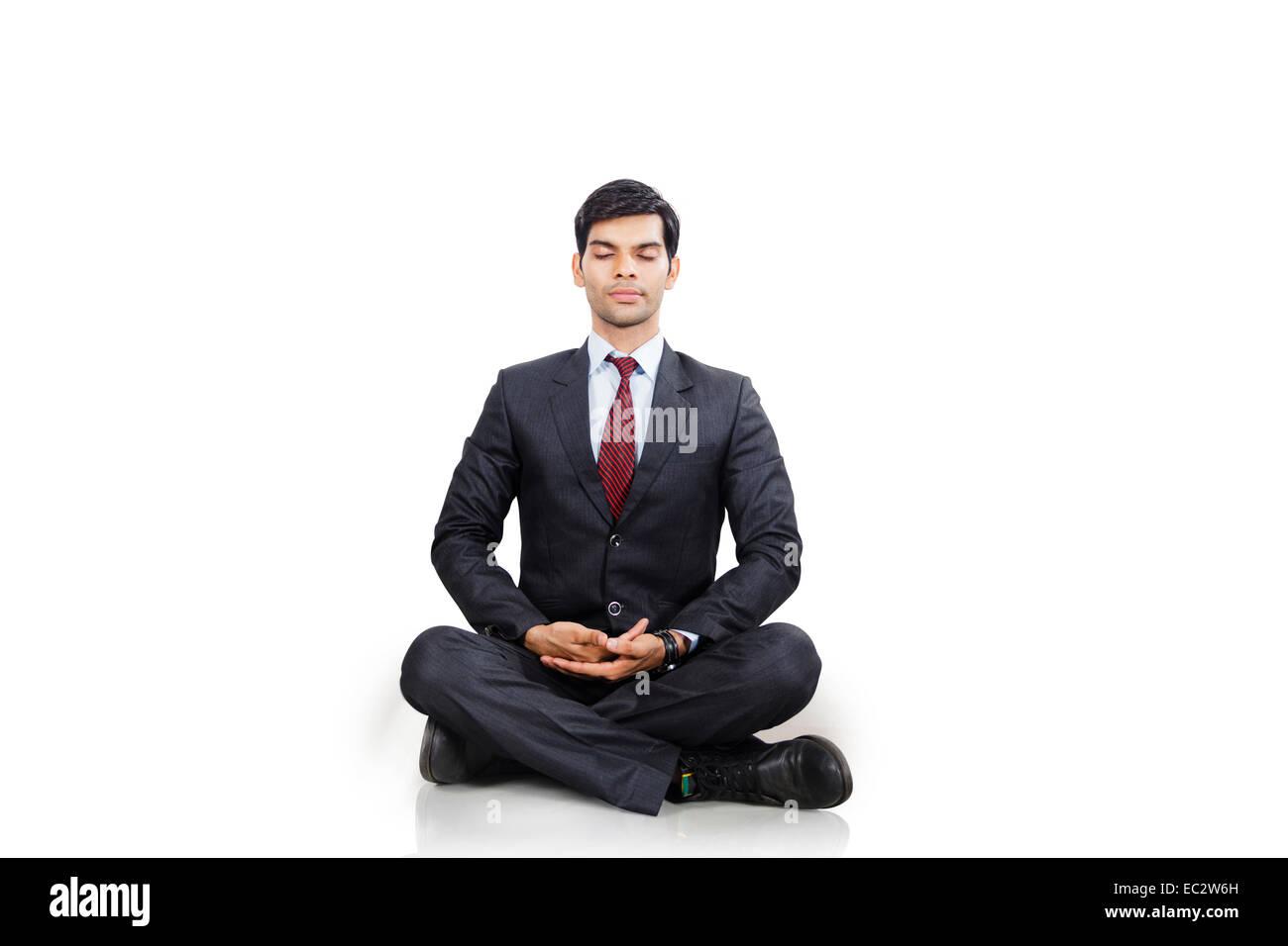 meditation businessman office. Indian Business Man Yoga Meditation Businessman Office