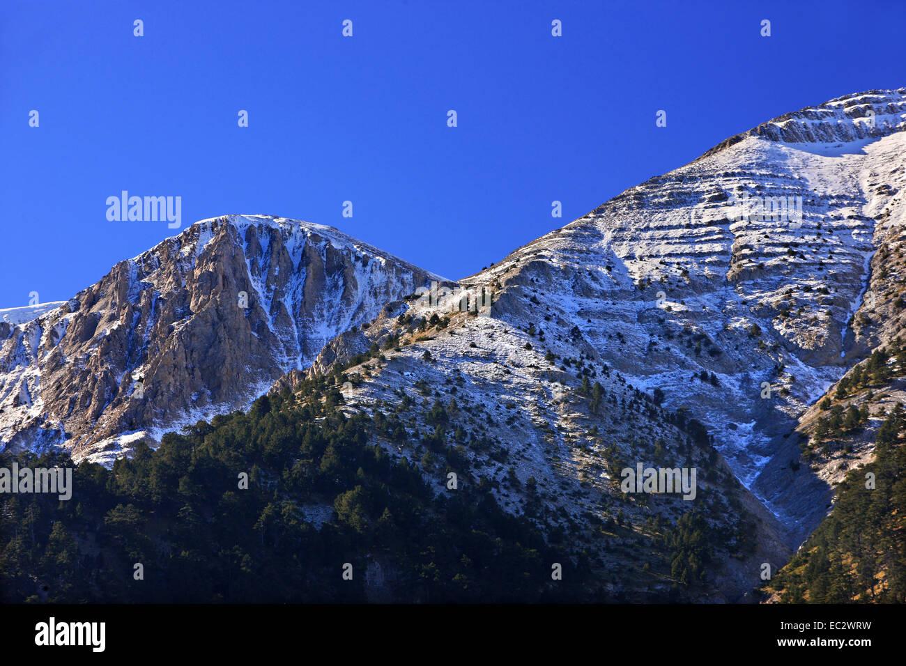 Mount Olympus, 'home of the gods', Pieria, Macedonia, Greece. - Stock Image
