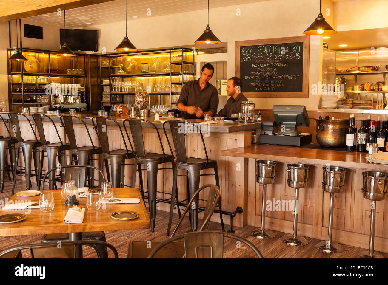 Nice Dining Room And Bar Of S.Y. Kitchen, Santa Ynez, Santa Ynez Valley,  California, United States Of America
