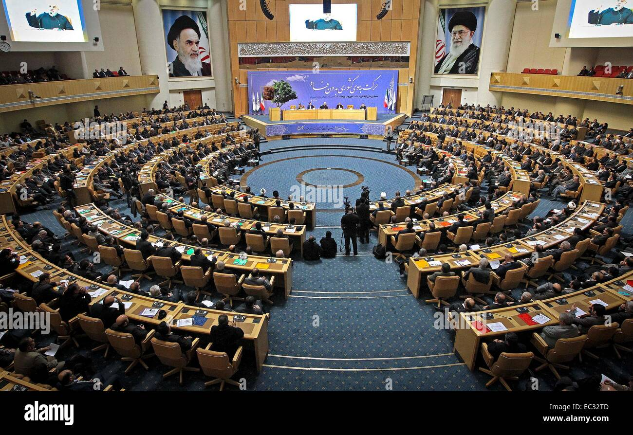 Tehran. 8th Dec, 2014. Iran holds an anti-corruption conference in Tehran on Dec. 8, 2014. Iranian President Hassan - Stock Image