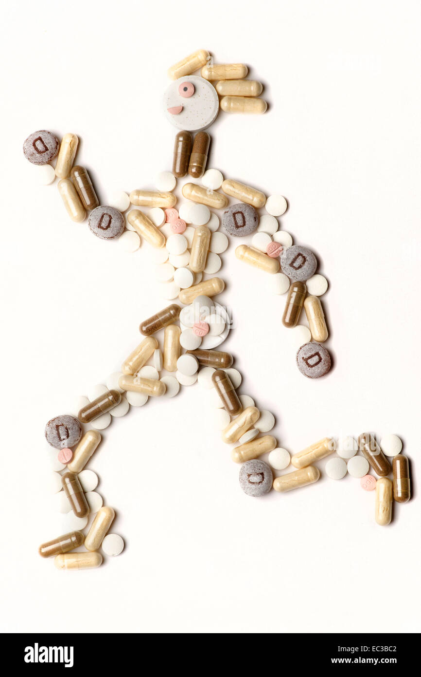 jogger from pills - Stock Image