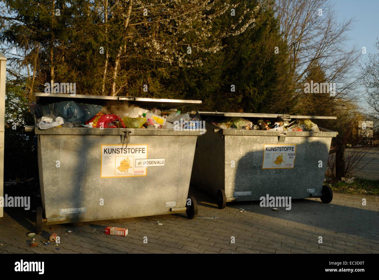 Hazardous Waste Plastics - Stock Image