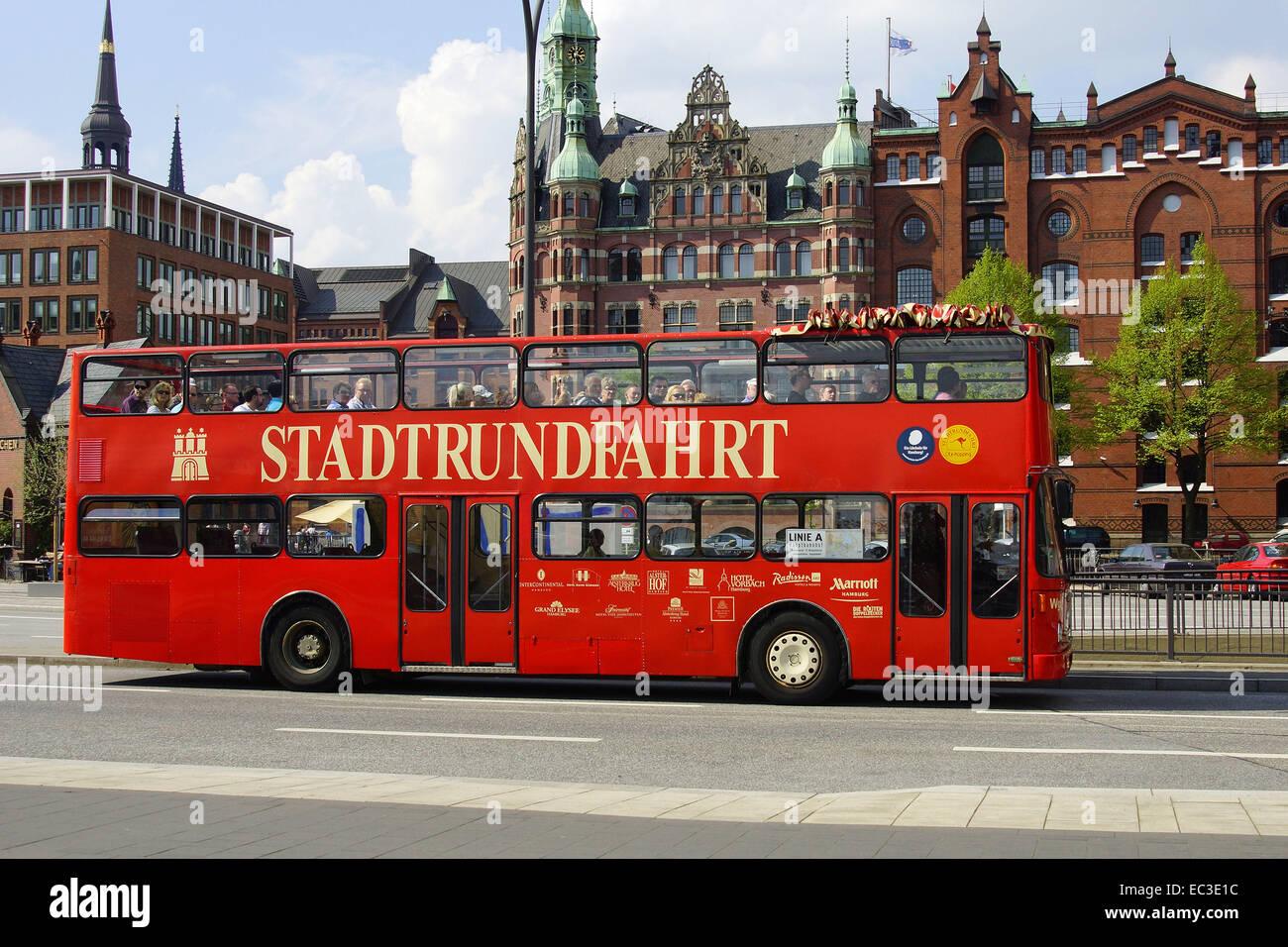 Citytour in the Speicherstadt Hamburg - Stock Image