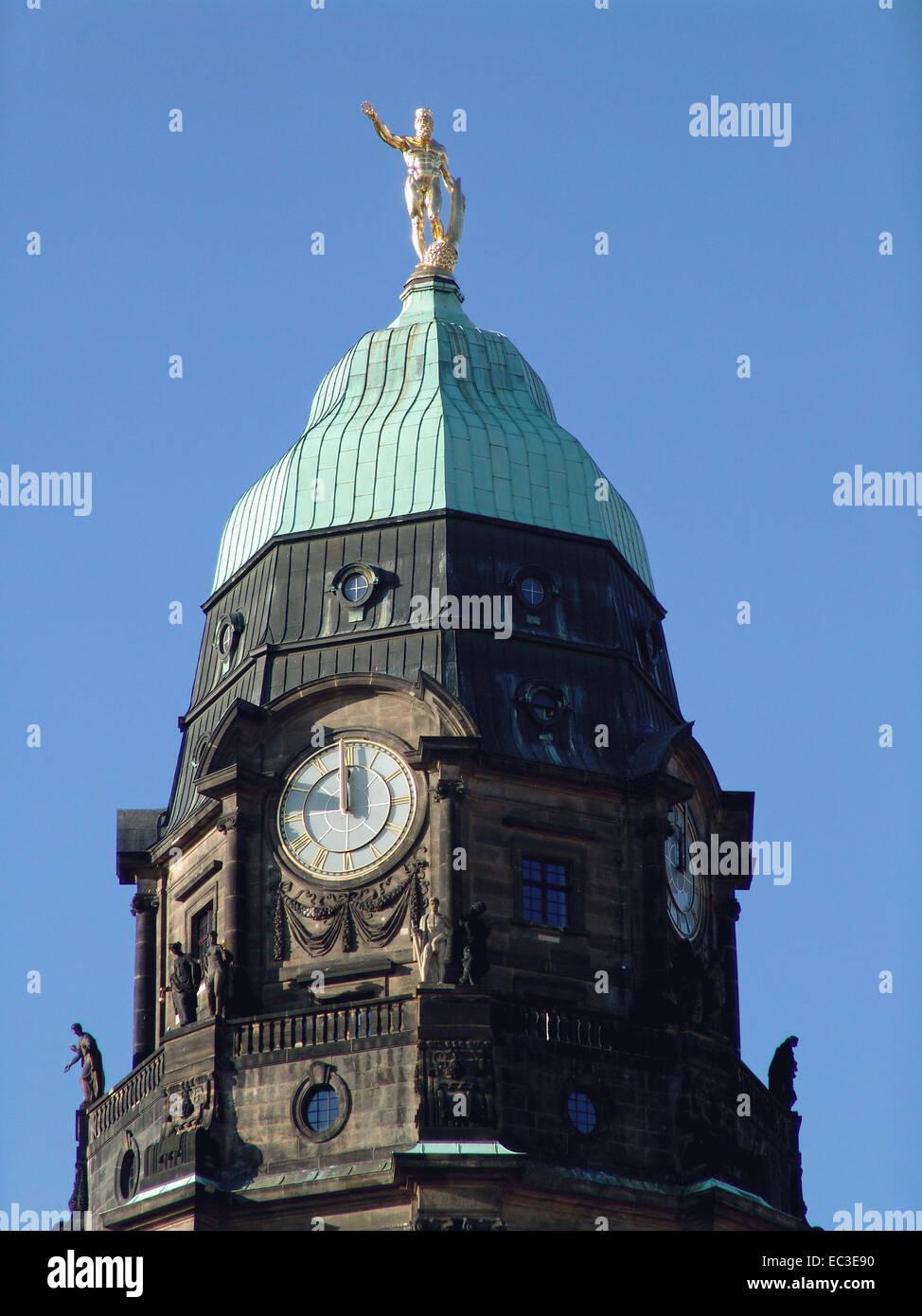 New Cityhall, Dresden, Germany Stock Photo
