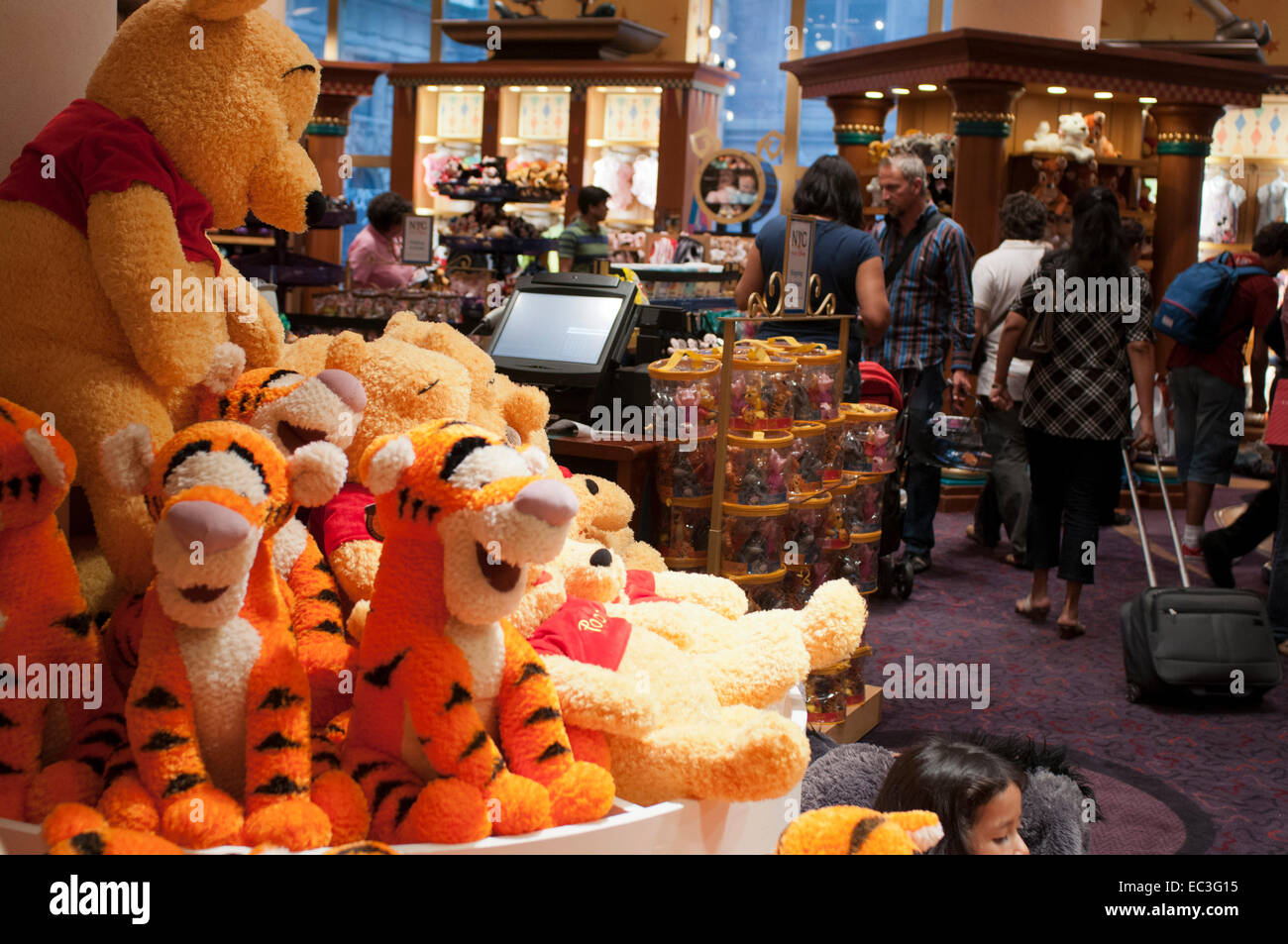 3cf282d7b1d8 Inside Disney store in New York. Winnie the pooh toys and teddies. Disney  Store s New York