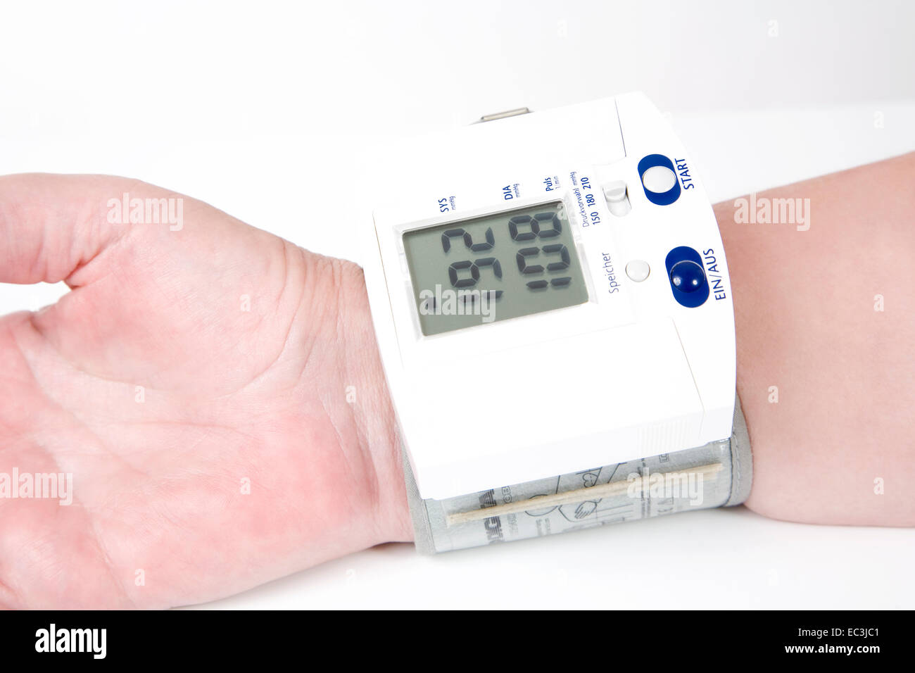 Arm with Sphygmomanometer - Stock Image