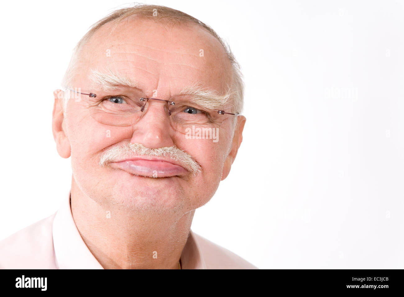 Old Man without Teeth - Stock Image