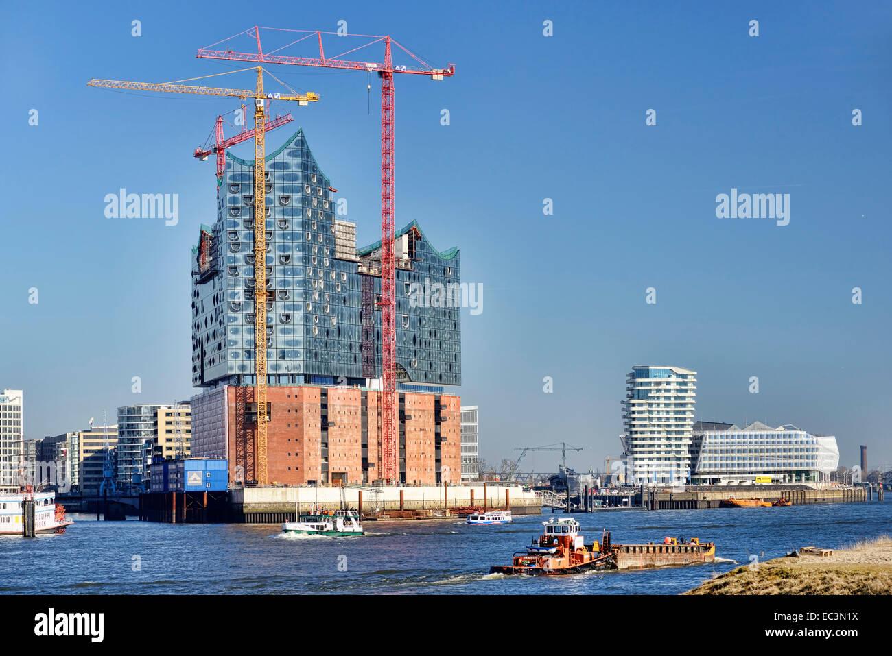 Elbphilharmonie building in Hamburg, Germany - Stock Image