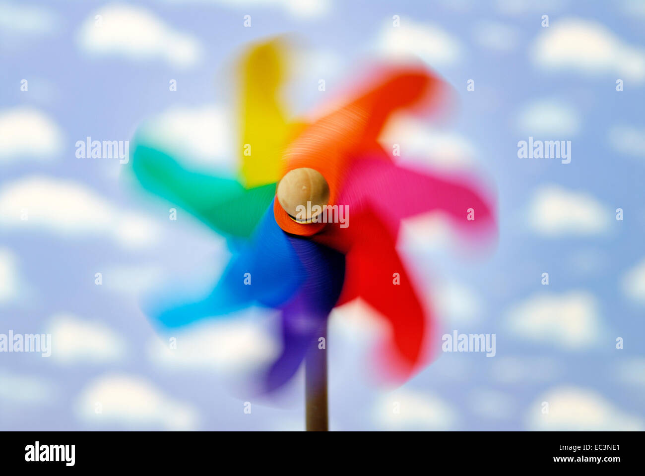 Turning pinwheel, sustainability - Stock Image
