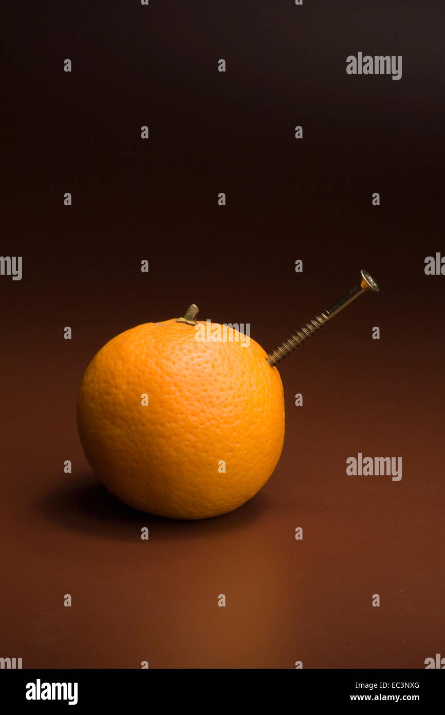 Screwed Orange - Stock Image