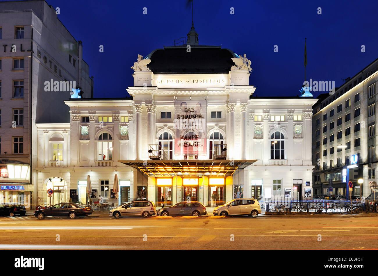 Deutsches Schauspielhaus theatre in Hamburg, Germany - Stock Image