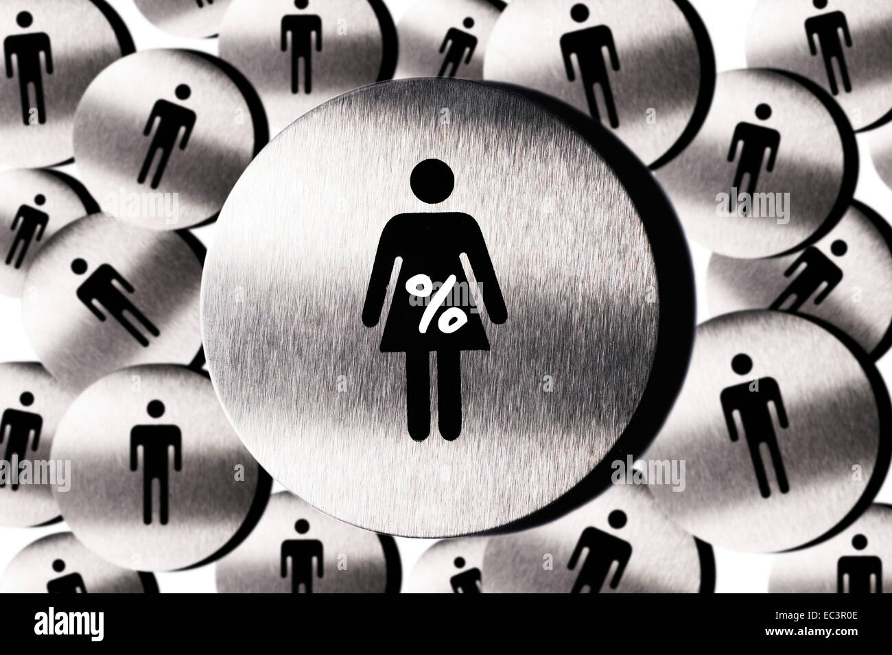 Pictogram of woman and man, women s quota - Stock Image