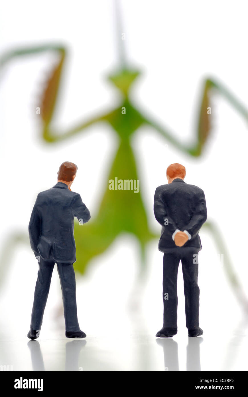 Locust and businessmen, hedge fund - Stock Image