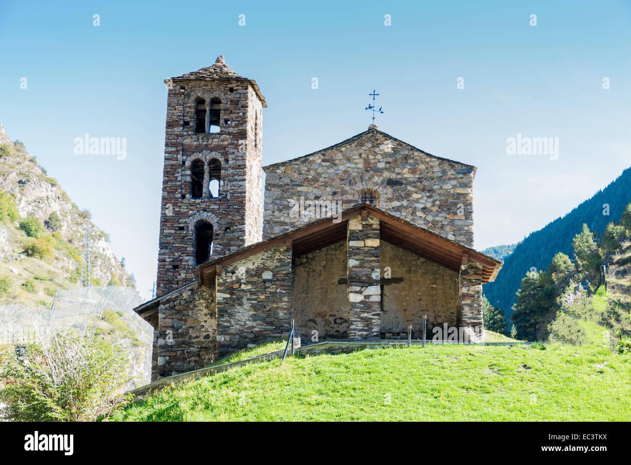 oldest church in Andorra La Vella Stock Photo